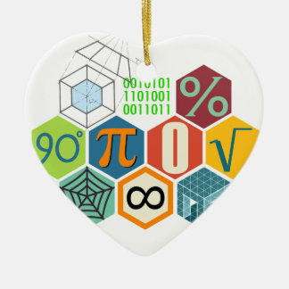 maths ceramic ornament