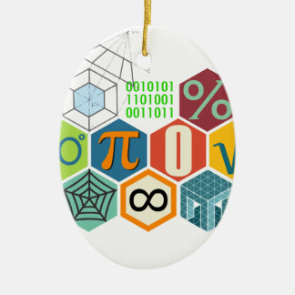 maths ceramic oval ornament
