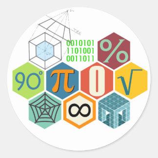 maths classic round sticker