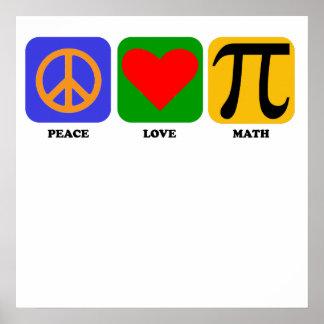 Maths d amour de paix affiche