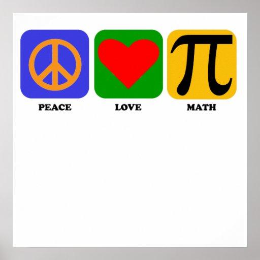 Maths d'amour de paix affiche