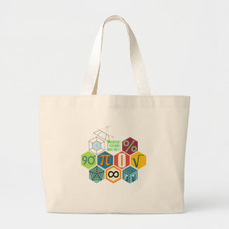 maths large tote bag