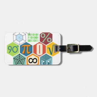 maths luggage tag