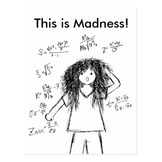 Maths Madness Postcard
