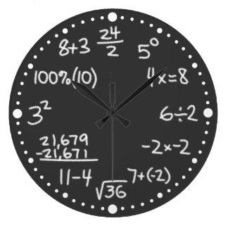 Maths Mathematical Equations Lover Black Clock
