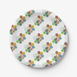 maths paper plate