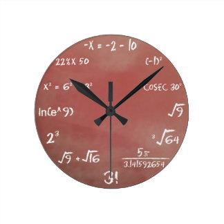 Maths Quiz Clock - Brown Medium