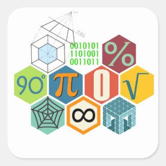maths square sticker