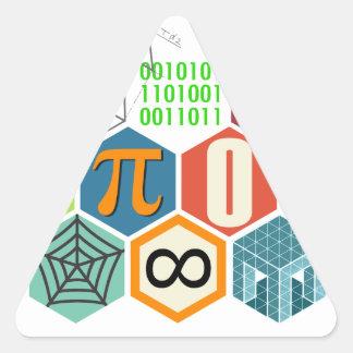 maths triangle sticker