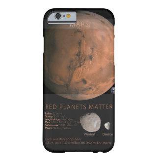 Matière rouge de planètes coque iPhone 6 barely there