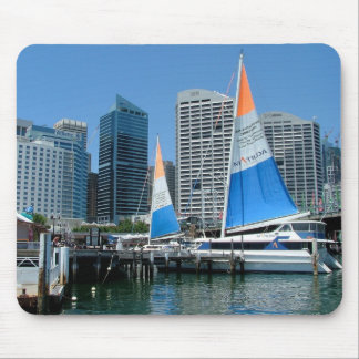 Matilda Cruise Line boats in Darling Harbour Mouse Pad