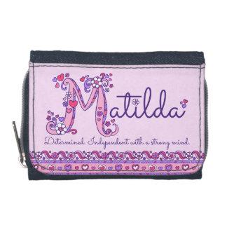 Matilda letter M name meaning doodle art Wallet