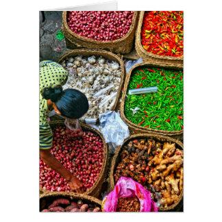 Matin au marché d'Ubud Carte De Correspondance