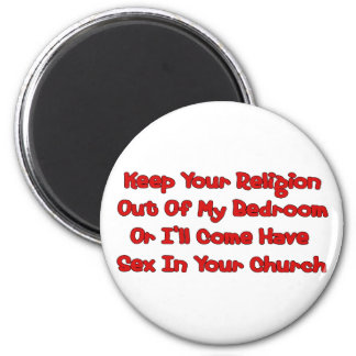 Mating In Your Church 2 Inch Round Magnet