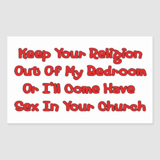 Mating In Your Church Rectangular Sticker