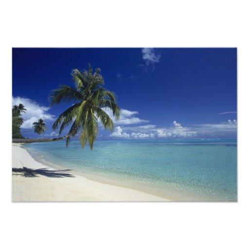 Matira Beach on the island of Bora Bora, 2 Photographic Print