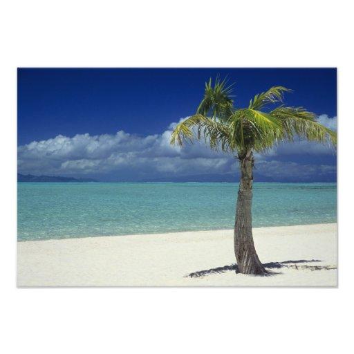 Matira Beach on the island of Bora Bora, Photo Print