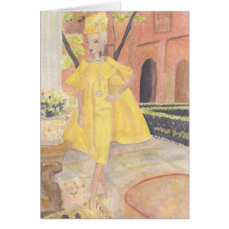 Matisse Doll Fashion Watercolor - Bouton dOr Card