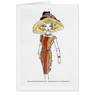 Matisse Doll Fashion Watercolor - Cabana Card
