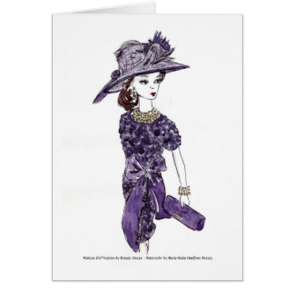 Matisse Doll Fashion Watercolor - Plum Escape Card
