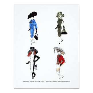 Matisse Doll Fashion Watercolors -2 Card