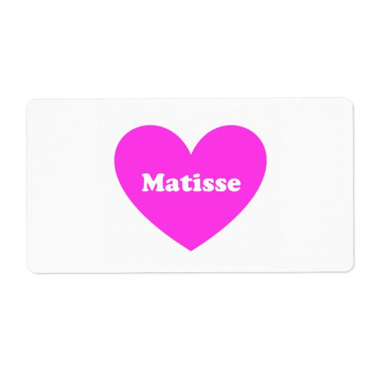 Matisse Shipping Label