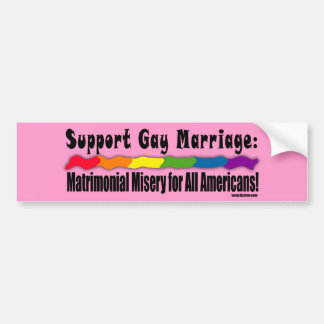 Matrimonial Misery Equality Bumper Sticker
