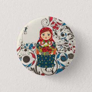 Matriochka 1 Inch Round Button