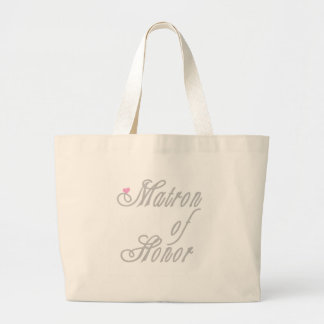 Matron of Honor Classy Grays Large Tote Bag