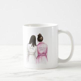 Matron of Honor? Long Dk Br Bride Dk Br Bun Maid Classic White Coffee Mug