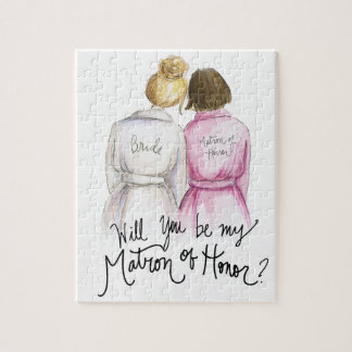 Matron of Honor? Puzzle Bl Bun Bride Br Bob Matron
