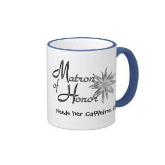 Matron of Honor Ringer Coffee Mug