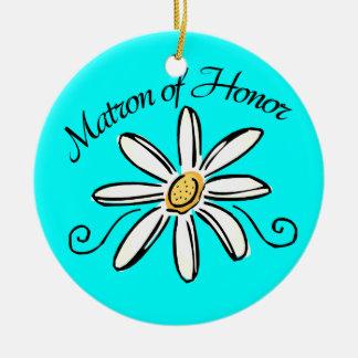 Matron of Honor Wedding Ceramic Ornament