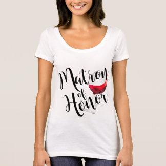 Matron of Honor Wine T-Shirt