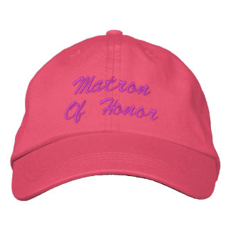 Matron Of Honour Embroidered Hat