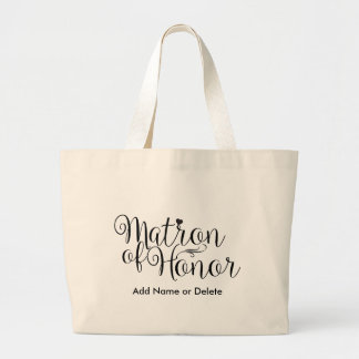 Matron of Honour Large Canvas Tote Bag