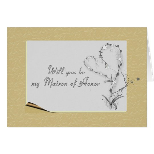 Matron of Honour Request Card
