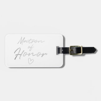 Matron of Honour - Silver faux foil Luggage Tag