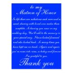 Matron of Honour Thank you