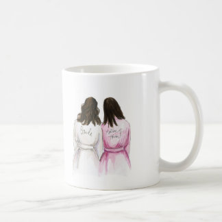 Matron? Wavy Dark Br Bride Dark Br Long Maid Coffee Mug