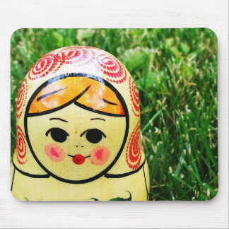 Matroshka Ukrainian Folk Art Mouse Pad