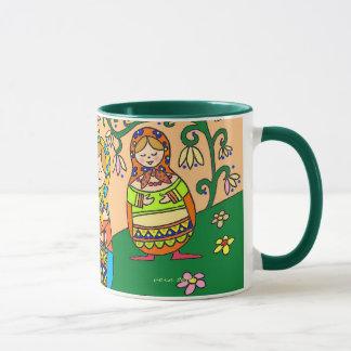 Matroshka Ukrainian Folk Art Mug