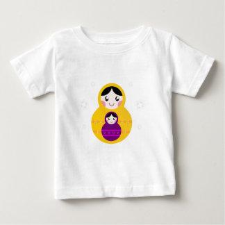 Matroshka yellow purple on white baby T-Shirt