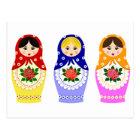 Matryoschka dolls postcard
