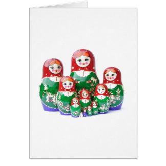Matryoshka - матрёшка (Russian Dolls) Card