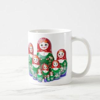 Matryoshka - матрёшка (Russian Dolls) Coffee Mug