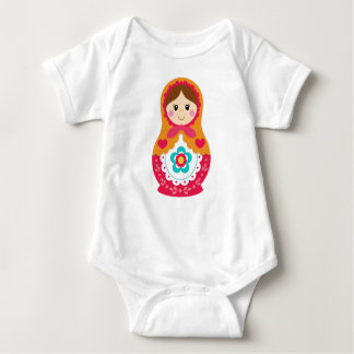 Matryoshka Bodysuit - Red and Orange