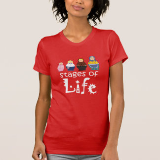 Matryoshka Cartoon Woman's Life Ageing Stylish T-Shirt