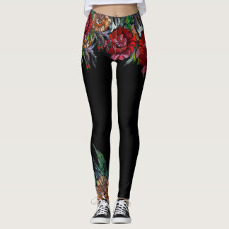 MATRYOSHKA COLLECTION vivid floral pattern Leggings