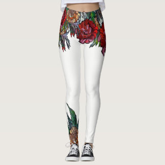 MATRYOSHKA COLLECTION vivid floral pattern Leggings